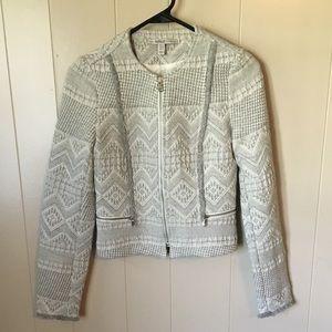 ZARA Aztec Print Tweed Blazer